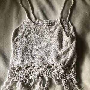crochet abercrombie tank top